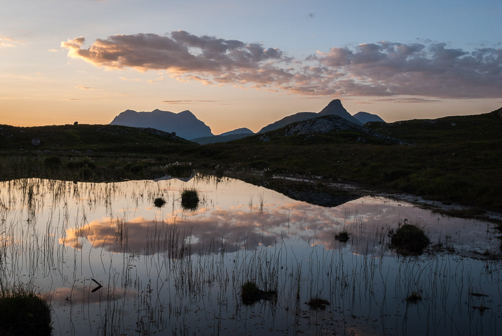 Cul Mor and Stac Pollaidh at sunrise
