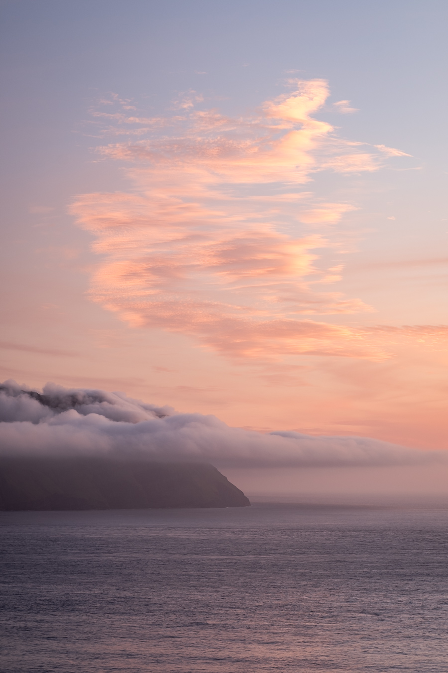 Sunset over Mykines